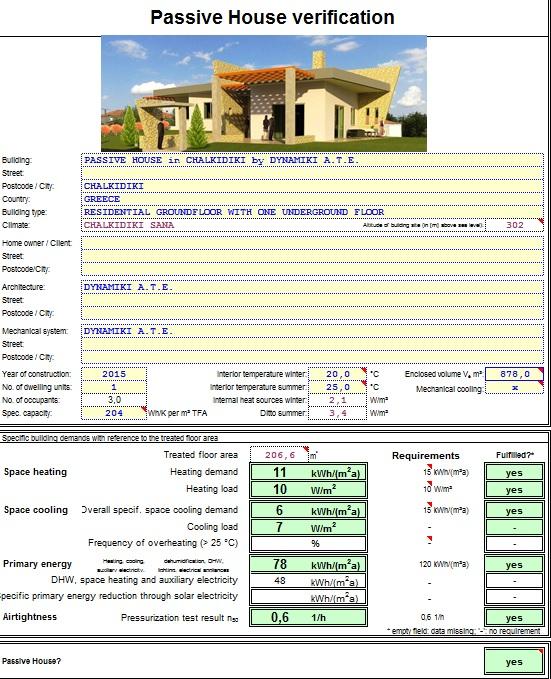Παθητικό Κτήριο στην Χαλκιδική Passive house by Dynamiki ATE passivehouse-verification